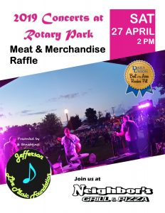 2019 Concerts at Rotary Park Kickoff @ Neighbors Grill & Pizza